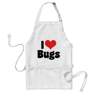 I Love Heart Bugs - Insects Entomologist Adult Apron