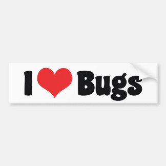 I Love Heart Bugs - Insects Entomologist Bumper Sticker