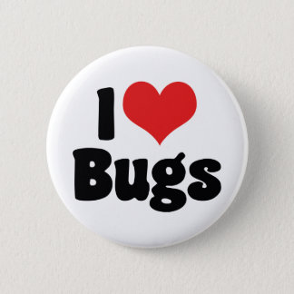 I Love Heart Bugs - Insects Entomologist Pinback Button