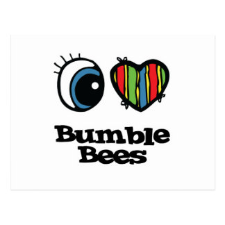 I Love (Heart) Bumble bees Postcards