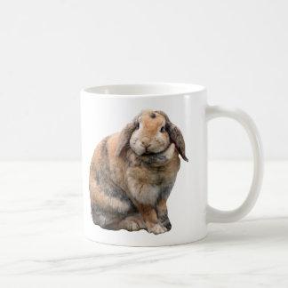 I love heart bunnies, rabbit lop-eared mug, gift