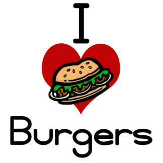 I love-heart burgers photo cut outs