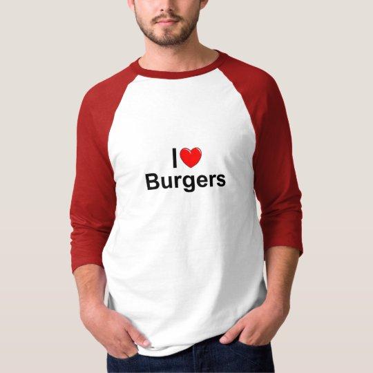 I Love (Heart) Burgers T-Shirt