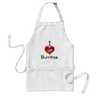 I love-heart burritos apron