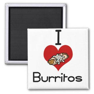 I love-heart burritos fridge magnet
