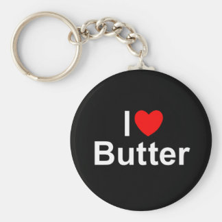 I Love (Heart) Butter Key Chain