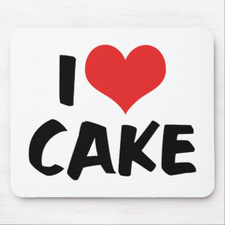 I Love Heart Cake - Cake Cookie Donut Lover Mouse Pad