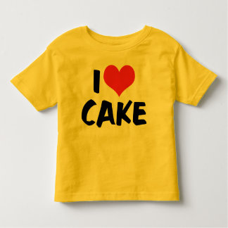 I Love Heart Cake - Cake Cookie Donut Lover Toddler T-shirt