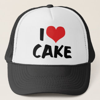 I Love Heart Cake - Cake Cookie Donut Lover Trucker Hat
