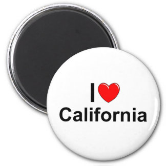 I Love (Heart) California 2 Inch Round Magnet