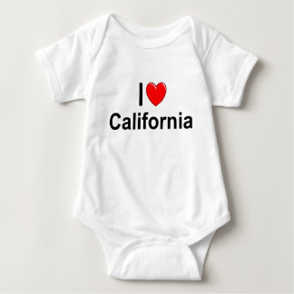 I Love (Heart) California Baby Bodysuit