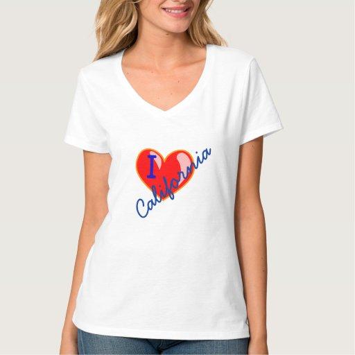 I Love (heart) California - Personalized T-Shirt