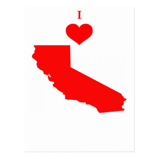 I Love (Heart) California Postcard
