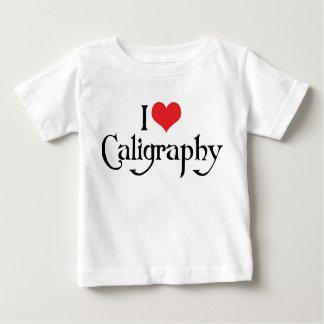 I Love Heart Calligraphy Baby T-Shirt