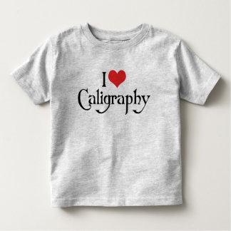 I Love Heart Calligraphy Toddler T-shirt