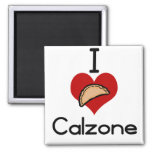 I love-heart calzone 2 inch square magnet