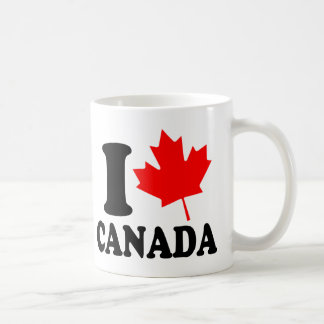 I Love Heart Canada Coffee Mug