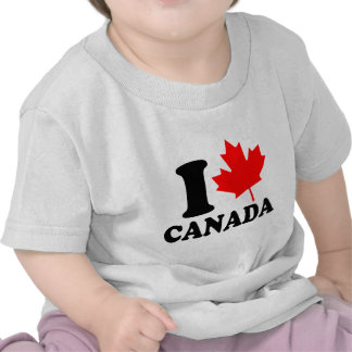 I Love Heart Canada T Shirts