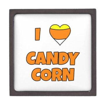 Halloween Themed I LOVE (Heart) Candy Corn Keepsake Box