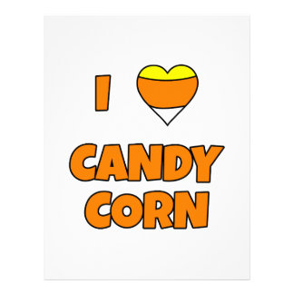 I LOVE (Heart) Candy Corn Letterhead