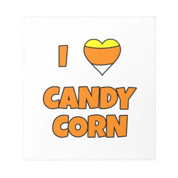 Halloween Themed I LOVE (Heart) Candy Corn Notepad