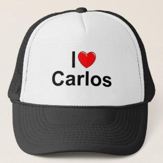 I Love (Heart) Carlos Trucker Hat