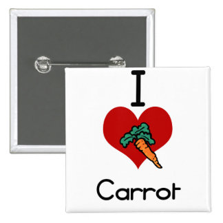 I love-heart carrot pinback buttons
