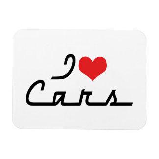 I Love Heart Cars - Classic Car Lover Magnet