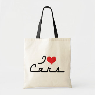 I Love Heart Cars - Classic Car Lover Tote Bag