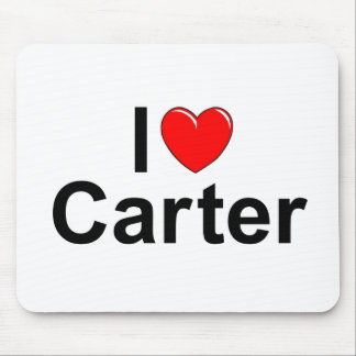 I Love (Heart) Carter Mouse Pad