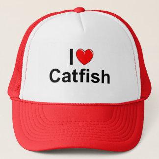 I Love (Heart) Catfish Trucker Hat