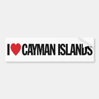 "I Love Heart Cayman Islands 11"" 28cm Vinyl Decal"