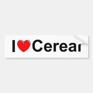 I Love (Heart) Cereal Bumper Sticker