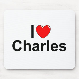 I Love (Heart) Charles Mouse Pad