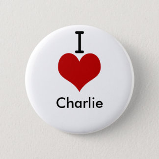 I Love (heart) Charlie Button
