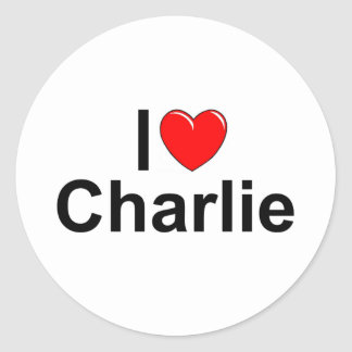 I Love (Heart) Charlie Classic Round Sticker