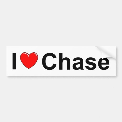 I Love (Heart) Chase Bumper Stickers