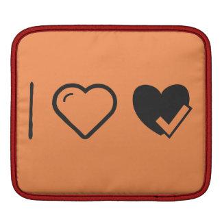 I Love Heart Check Ups Sleeve For iPads