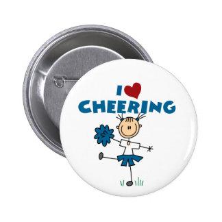 I Love (Heart) Cheering Pinback Button