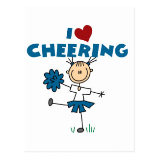 I Love (Heart) Cheering Postcard