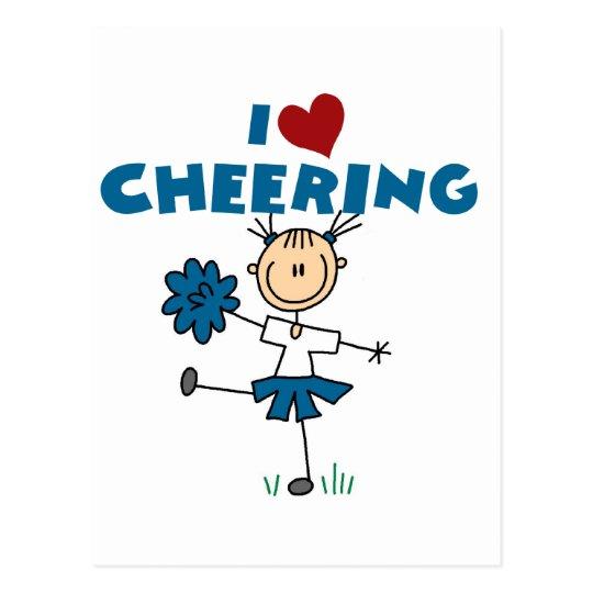 I Love (Heart) Cheering Postcard