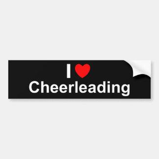 I Love Heart Cheerleading Bumper Sticker