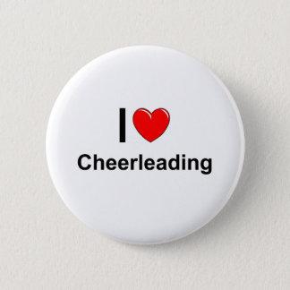 I Love Heart Cheerleading Button