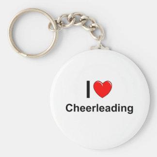 I Love Heart Cheerleading Keychain
