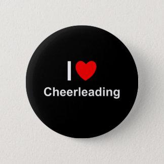 I Love Heart Cheerleading Pinback Button