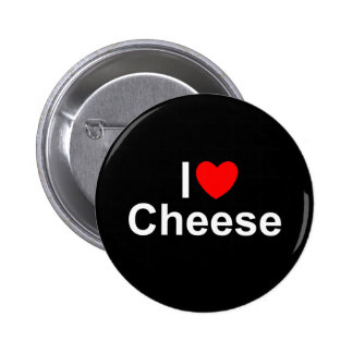 I Love (Heart) Cheese Button