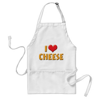 I Love Heart Cheese - Dairy Lover Adult Apron