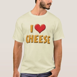 I Love Heart Cheese - Dairy Lover T-Shirt