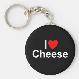 I Love (Heart) Cheese Keychains
