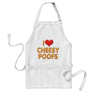 I Love Heart Cheesy Poofs Adult Apron